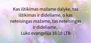 Luko evangelija 16:10
