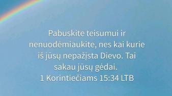 1 Korintiečiams 15:34