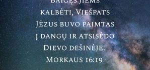 Morkaus evangelija 16:19