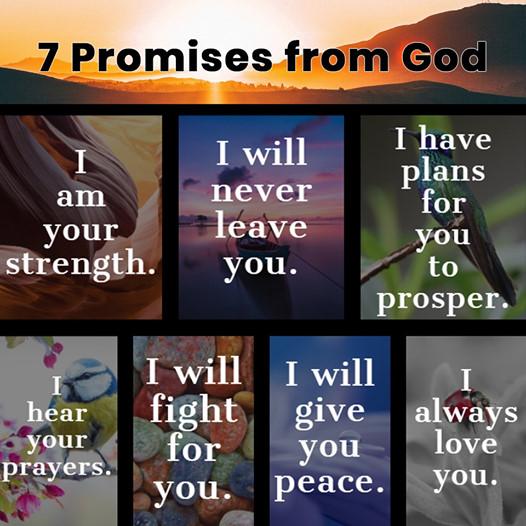 7 pažadai iš Dievo